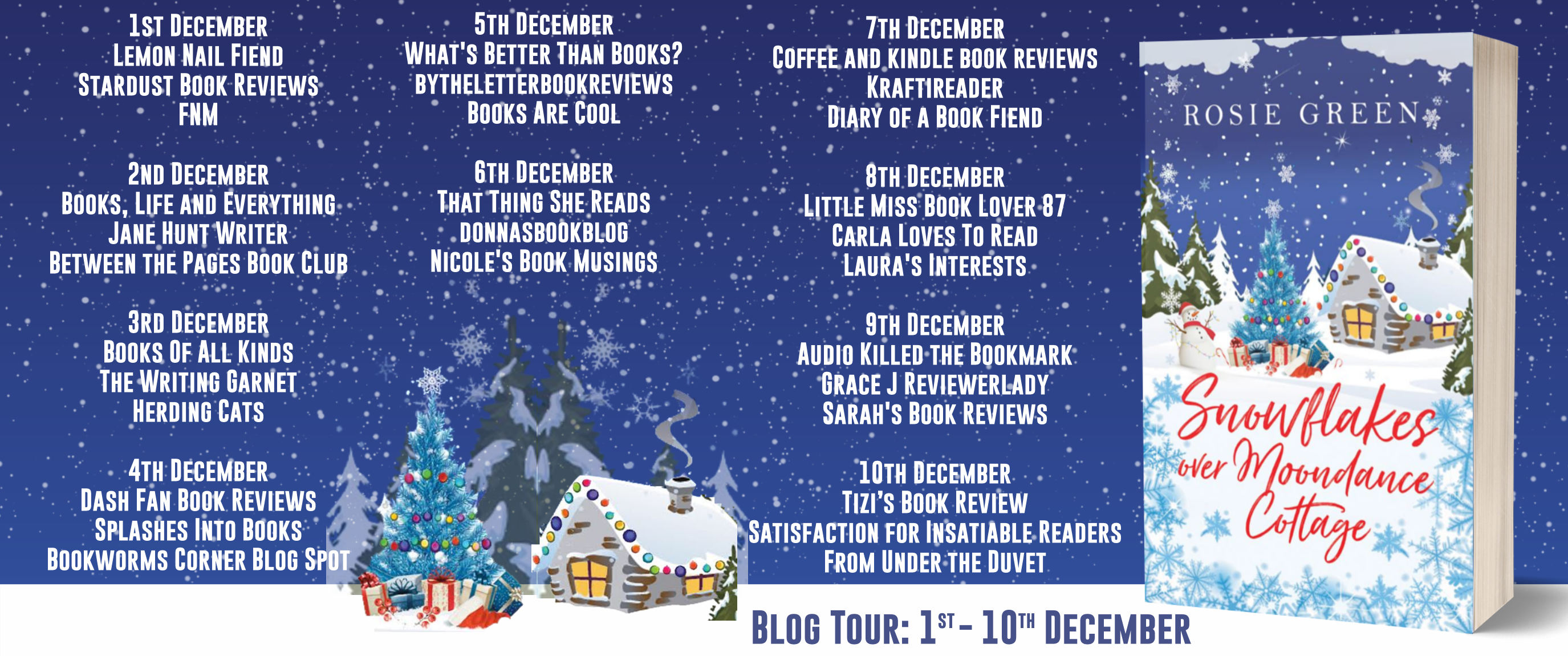 Snowflakes Over Moondance Cottage Full Tour Banner